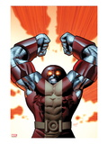 Uncanny X-Men No543 Cover: Colossus Smashing