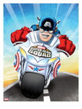 Marvel Super Hero Squad: Captain America Riding Motorcycle