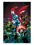 Captain America 10 Cover; Captain America and Falcon Fighting Others