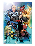 I Am An Avenger No2 Cover: Steve Rogers  Wolverine  Black Widow  Justice  Firestar  & Spider Woman