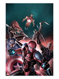 The Amazing Spider-Man No683 Cover: Spider-Man  Captain America  Hawkeye  Black Widow  & Iron Man