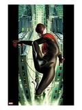 Ultimate Spider-Man 2 Cover: Spider-Man Swinging