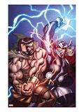 Chaos War No1 Cover: Hercules and Thor Fighting