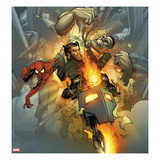 Fear Itself: Fearsome Four No3 Cover: Ghost Rider  Wolverine  Spider-Man  and Hulk