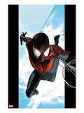 Ultimate Spider-Man 1 Cover: Spider-Man Swinging