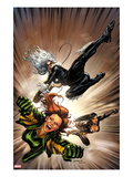 X-Factor No217 Cover: Black Cat  Siryn  and M Flying