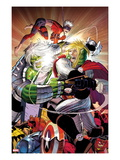 Avengers No6 Cover: Thor and Hulk Fighting