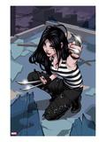 X-23 No1 Cover: X-23 Kneeling
