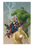 Avengers: The Origin No5 Cover: Iron Man  Wasp  Ant-Man  Thor  Hulk
