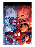 Ultimate Spider-Man 14 Cover: Spider-Man Posing