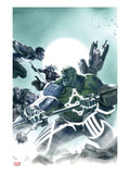 Fear Itself: Hulk vs Dracula No2 Cover: Hulk Fighting and Screaming