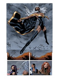 Uncanny X-Men 5: Panels with Storm Flying