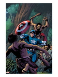 Marvel Adventures Super Heroes 15 Cover: Captain America Fighting with his Shield