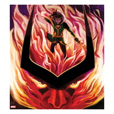 Journey Into Mystery No626 Cover: Loki in Flames