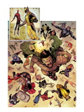 Chaos War 1: Hercules  Wolverine  Thor  Spider-Man  Captain America  Mockingbird  and Black Widow