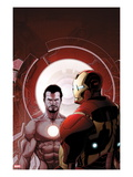 Invincible Iron Man 503 Cover: Iron Man and Tony Stark