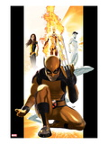 Ultimate X-Men No1 Cover: Wolverine  Kitty Pryde  Human Torch  and Iceman