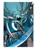 Daken: Dark Wolverine 14 Cover: Moon Knight Jumping