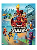 Marvel Super Hero Squad: Captain America  Thing  Hulk  Human Torch  Iceman  and Hawkeye Running