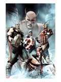 Captain America: Hail Hydra No2 Cover: Thor  Iron Man  Captain America  and Wasp