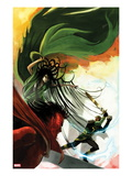 Journey Into Mystery No624 Cover: Loki  Hela  and Mephisto Fighting