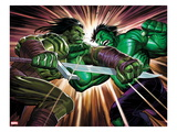 Incredible Hulk 611 Cover: Skaar and Hulk Fighting