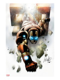 Invincible Iron Man 500 Cover: Iron Man Flying