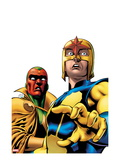 Marvel Adventures Super Heroes 9 Cover: Nova and Vision Standing