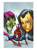 Marvel Adventures Spider-Man No18 Cover: Spider-Man  Madame Masque  and Green Goblin