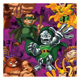 Marvel Super Hero Squad: Loki  MODOK  Dr Doom  and Juggernaut Posing