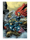 Free Comic Book Day 2011 (Thor The Mighty Avenger) No1 Cover: Captain America and Thor