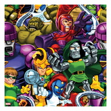 Marvel Super Hero Squad: Sentinel  Abomination  Magneto  Super Skrull  Loki  Dr Doom  and Mystique