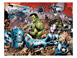 Incredible Hulks 614: A-Bomb  Hulk  Red She-Hulk  Valkyrie  Steve Rogers  She-Hulk  and Nova