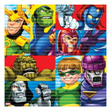 Marvel Super Hero Squad: Super Skrull  Mystique  Magneto  Dr Doom  Doctor Octopus  and Sentinel