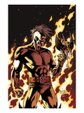 Dark Wolverine 90 Cover: Darken in Flames