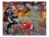Avengers No4: Thor and Galactus Flying and Fighting