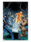 Fantastic Four No583 Cover: Mr Fantastic  Invisible Woman  Thing  and Human Torch Standing