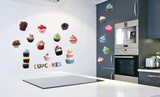Cup Cakes Wall Decal Sticker