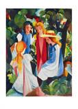 Vier Mädchen 1912 - 913