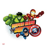 Marvel Super Hero Squad Badge: Ant-Man  Captain America  Hulk  and Iron Man Flying