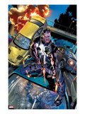 The Punisher No2 Cover: Punisher Shooting