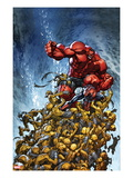 Avenging Spider-Man 2 Cover: Spider-Man and Red Hulk Fighting Moloids