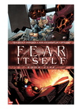 Fear Itself No5 Cover: Iron Man and Thor Smashing