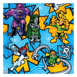 Marvel Super Hero Squad: Sentinel  Dr Doom  Loki  Mystique  and Doctor Octopus Posing