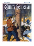 """Gathering Maple Syrup "" Country Gentleman Cover  March 1  1927"