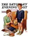 """Growing Boy "" Saturday Evening Post Cover  September 16  1939"