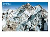 Mt. Everest Map Reproduction d'art par National Geographic Maps