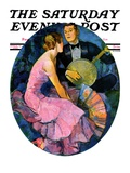 """Banjo Serenade "" Saturday Evening Post Cover  April 11  1931"