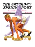 """Eleventh Olympiad "" Saturday Evening Post Cover  August 8  1936"