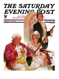 """Sleeping in Church "" Saturday Evening Post Cover  April 7  1934"